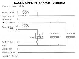 sound card interface i utilized some surplus 1 1 600 ohm telco transformers to isolate the audio lines betwen the radio and computer