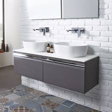 rhodes pursuit mm bathroom vanity unit: roper rhodes pursuit mm wall hung vanity with  basins  colours