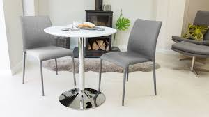 table 2 chairs. 2 seater gloss round pedestal dining table chairs 0