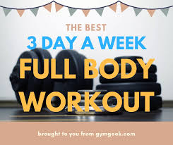 gym geek best 3 day a week split full workout routine that you can use gymgeek com