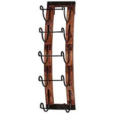 wood metal wine rack. Perfect Rack Woodmetal 5bottle Hanging Wine Rack With Antique Metal Brackets To Hold  Your Throughout Wood N