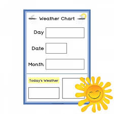 Day Date Weather Chart Weather Chart A3 Poster Happy Learners Resources