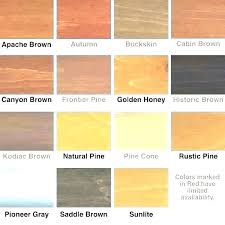 Interior Wood Stain Color Chart Interior Wood Stain Colors Brickandwillow Co