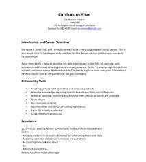 Beauty Advisor Cv Sample Tips And Free Download Cv Guidance