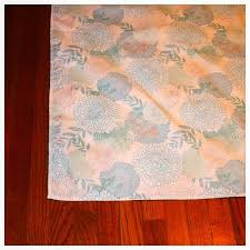 how to turn a tablecloth into a rug