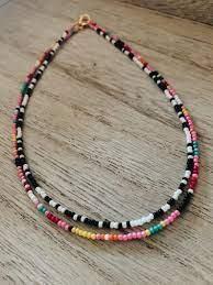 Outer Banks Necklace black and white necklace beaded | Etsy | Black and  white necklaces, Beaded necklace, Bracelet patterns