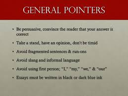 tips for writing an essay on the ap us history exam ppt video  general pointers be persuasive convince the reader that your answer is correct take a