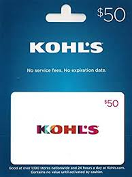 Kohl's Gift Card $50: Gift Cards - Amazon.com