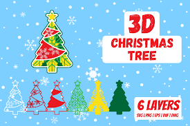 3d Christmas Tree Graphic By Svgocean Creative Fabrica