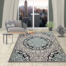 traditional oriental medallion area rug 5 3 x 7 3