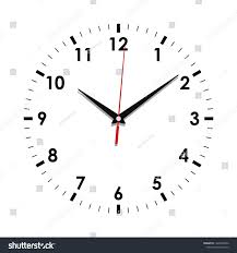 Watch Dial Design Template Clock Face Icon Symbol Watch Isolated Stock Vector Royalty