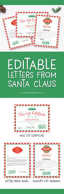 This free letter to santa printable is so so cute for the holiday season! Editable Letters From Santa