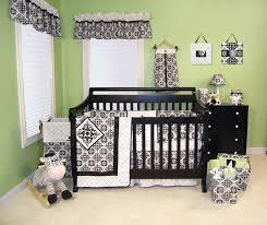 black and white damask baby bedding designs