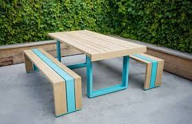 trendy outdoor furniture. Scout Regalia\u0027s Patio Garden Furniture For Urban Dwellers Has Us Swooning. How Can You Not Love Their Updated Version Of The Classic Picnic Table Featuring Trendy Outdoor U