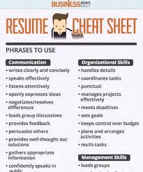 Download Resume Cheat Sheet