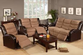 Reclining Living Room Furniture Sets Sofa Recliner Sale Leather Sofa Recliner With Nailhead Trim 4