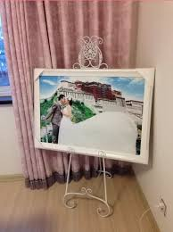 Wedding Album Display Stand Best Hot Continental Iron Painting Frame Floor Display Stand Shelf Photo