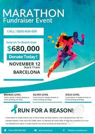 bies marathon fundraiser flyer tds psd flyer templates marathon fundraiser event psd flyer