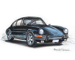 If you could have just one 911, which 911 would it be? 1970 Black Porsche 911 Print Father S Day Car Art Vintage Etsy