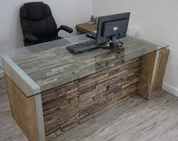 rustic office desk. Modern Rustic Office Desk. Computer Reclaimed Rail Wood Furniture. Desk T