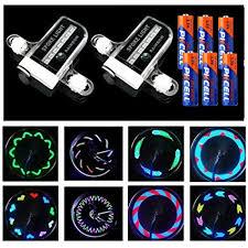 Xyemao 2 Pack LED <b>Bike Spoke</b> Lights (Include Battery ...