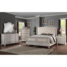 Sasha Lee Barton Creek 4 Piece King Bedroom Set in Off White Paint ...