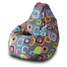 <b>Кресло</b>-<b>мешок груша Пазитифчик Мумбо</b> (жаккард) 130х85 см