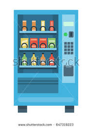 Vending Machine Science Project Simple Vending Machine Snacks Drinks Flat Style Stock Vector Royalty Free