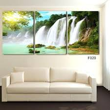 nature canvas wall art drop 3 piece wall art painting canvas painting strong waterfall natural