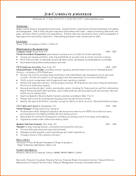 Sample Resume For Financial Service Representative 24 Financial Resume Sample Financial Statement Form 5