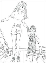 Barbie Dolls Coloring Pages Free Barbie Doll Coloring Book Barbie