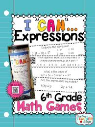 grade math game equations and inequalities perfect for independent small group or whole group work common core with qr codes