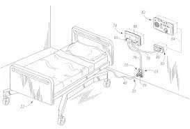 patent us hospital bed having wireless data patent drawing