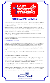 Reverse Raffle Rules On February 25 2019 You Could Win Up To 10 000 Cape