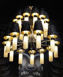 decor design hilton: signature collection lighting grand scale luxury  tiered alessandro chandelier golden brass black