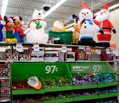 Christmas Decorations Sears Christmas Decorations Are Displayed At A Walmart Store On November