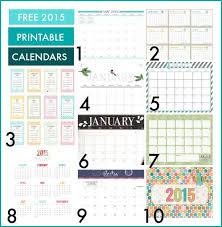 Free 2015 Calendar Printables Honey Were Home
