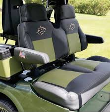 shown here with optional cart buddy armrest covers