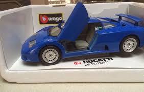 Συλλεκτικα σπορ αυτοκινητα και αλλα απο συλλογη 24 τμ. Model Car Burago Bugatti Eb 110 Blue 1991 1 18 Luxury Sports Die Cast Vehicle Diecast Cars Diecast Toy Car