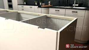 kitchen island countertop brackets island support bracket by the original granite bracket notch view