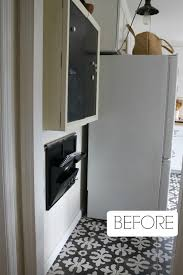 ikea stall cabinet in a small kitchen