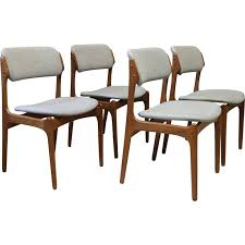 set of 4 grey chairs n 49 by erik buch for o d mobler as