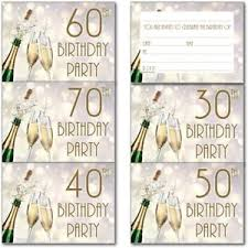 30th 40th 50th 60th 70th 80th 90th Birthday Party Invitations