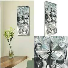 modern metal wall art abstract clock
