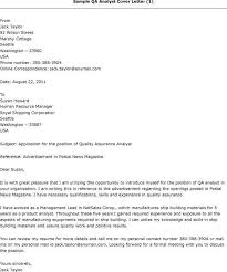 Test Analyst Cover Letter Qa Cover Letters Deanroutechoiceco