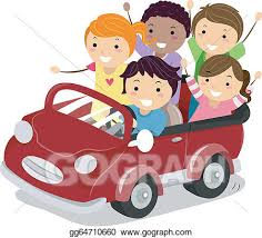 riding in car clipart.  Car Vector Art  Illustration Of Stickman Kids Riding A Toy Car Clipart  Drawing Gg64710660 Inside Riding In Car O
