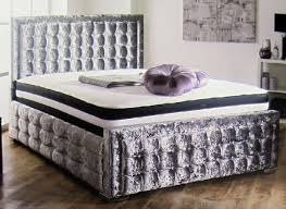 luxury king size bed. Credit Crunch Carpets Hoy Luxury Upholstered King Size Bed With Lift Up Storage