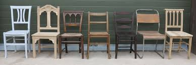 reclaimed and antique wooden church and chapel chairs ideal for use with kitchen and dining room