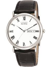 citizenmens sti brown leather strap watch bm8240 11a