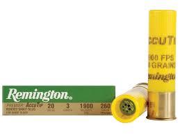 Remington Premier Ammo 20 Ga 3 260 Grain Accutip Bonded Sabot Slug